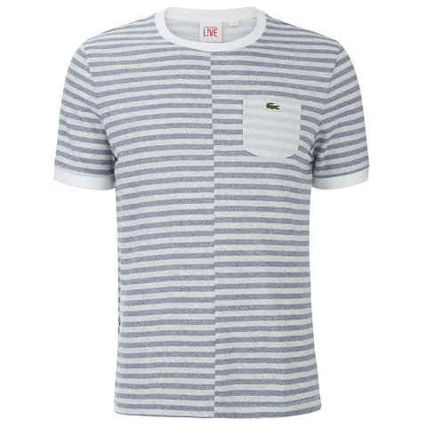 Lacoste Live Men's Pocket T-Shirt - Blue/White