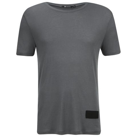 T by Alexander Wang Men's Short Sleeve T-Shirt With Silk Patch - Slate