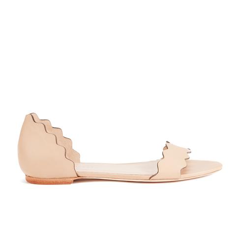 Loeffler Randall Women's Lina Scalloped Sandals - Wheat