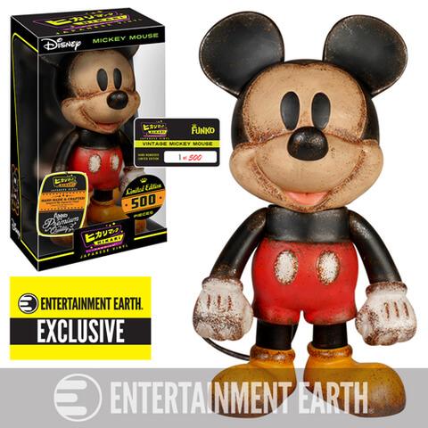 Disney Mickey Mouse Vintage Premium Hikari Sofubi Entertainment Earth Vinyl Figure