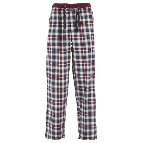 Tokyo Laundry Men's Richmond Check Lounge Pants - Oxblood
