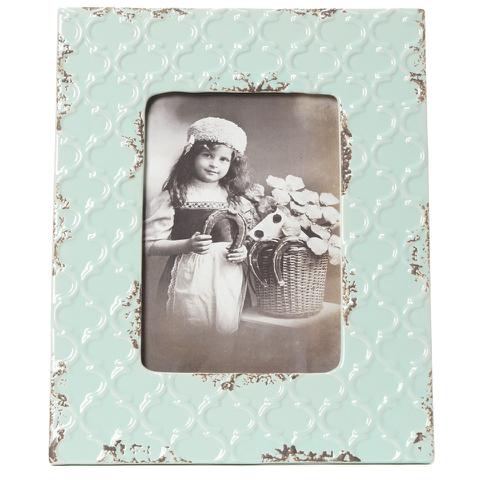 Bark & Blossom Blue Ceramic Photo Frame