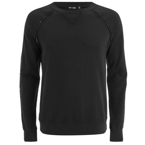 BLK DNM Men's Raglan Sweatshirt - Black