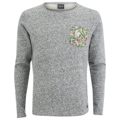 Jack & Jones Men's Originals Boom Pocket Sweatshirt - Light Grey Melange