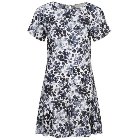 MICHAEL MICHAEL KORS Women's Gemma Silk Textured Print Dress - New Navy