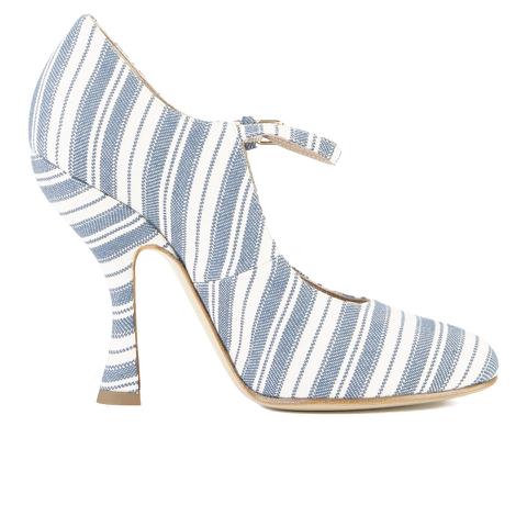 Vivienne Westwood Women's Mary Jane Heeled Shoes - Cream/Navy