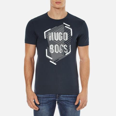 BOSS Green Men's Tee 1 Printed T-Shirt - Navy