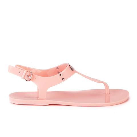 MICHAEL MICHAEL KORS Women's MK Plate Jelly Sandals - Pale Pink