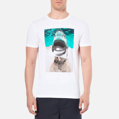 BOSS Orange Men's Treyno 1 Shark Print T-Shirt - White
