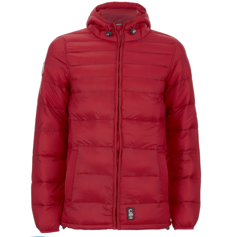 Crosshatch Men's Quilted Rabble Jacket - Samba Red