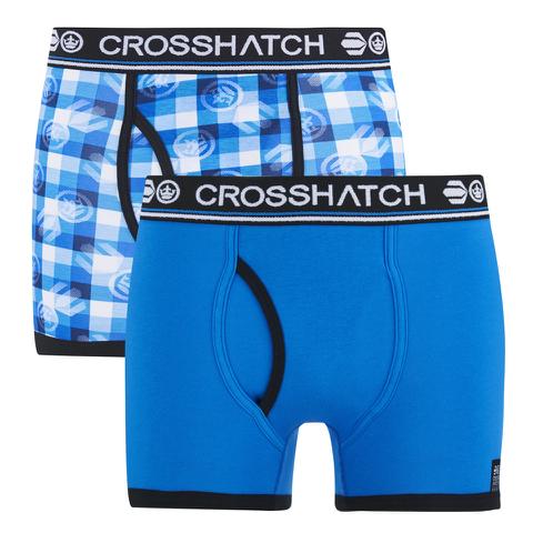 Crosshatch Men's Pixflix 2-Pack Boxers - Directoire Blue