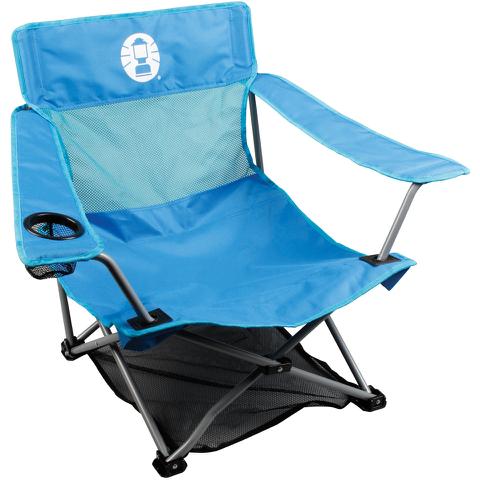 Coleman Low Quad Folding Chair - Blue