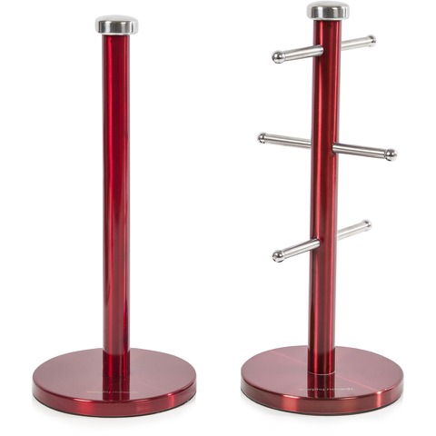 Morphy Richards 974029 Mug Tree & Towel Pole Set - Red