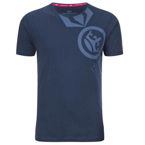 Crosshatch Men's Pacific Print T-Shirt - Insigia Blue