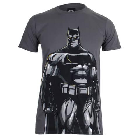DC Comics Batman vs. Superman Batman Herren T-Shirt - Dunkelgrau