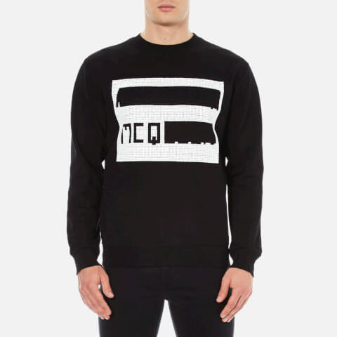 McQ Alexander McQueen Men's Logo Clean Crew Sweatshirt - Darkest Black