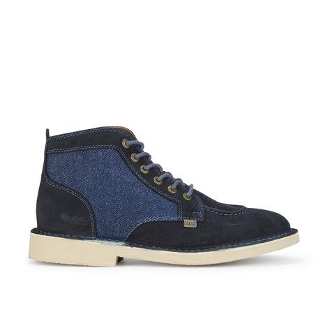 Kickers Men's Legendary Suede Lace Up Boots - Dark Blue
