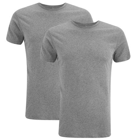 Puma Men's 2 Pack Crew Neck T-Shirts - Grey