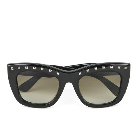 Valentino Women's Rockstud Square Frame Sunglasses - Black