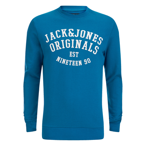 Jack & Jones Men's Seek Crew Neck Sweatshirt - Mykonos
