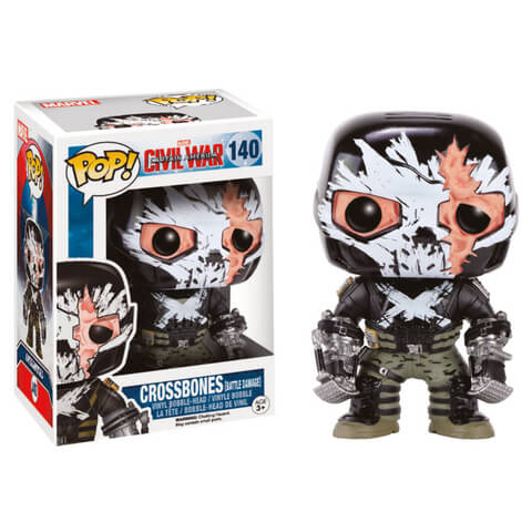 Capitán América: Civil War Crossbones Battle Damaged Pop! Vinyl Figure