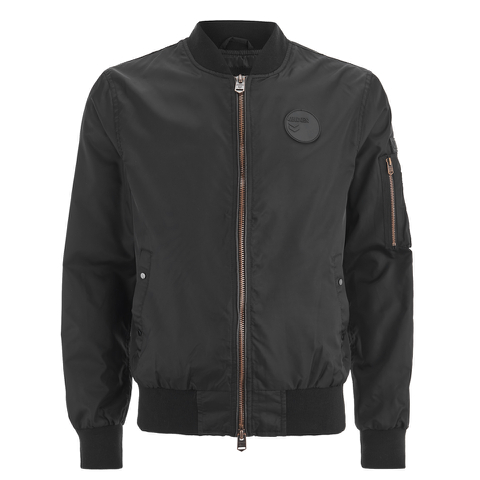4Bidden Men's Radar Bomber Jacket - Black