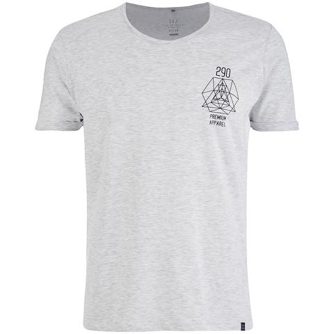 Smith & Jones Men's Maqsurah Back Print T-Shirt - Light Grey Marl