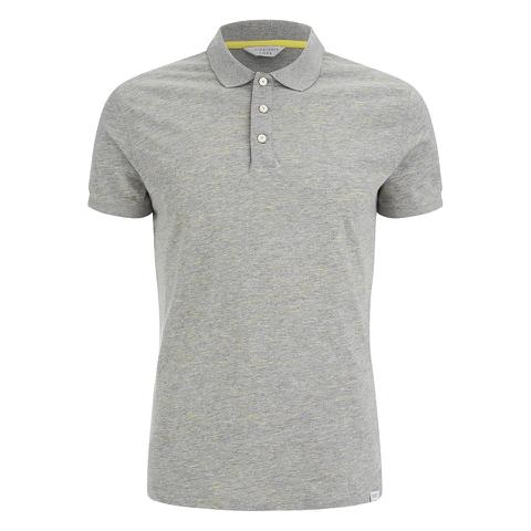Jack & Jones Men's Core Blast Fleck Polo Shirt - Light Grey Marl