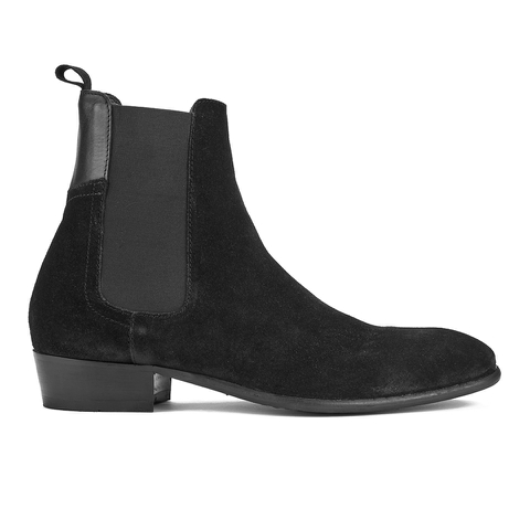H Shoes by Hudson Men's Watts Suede Chelsea Boots - Black