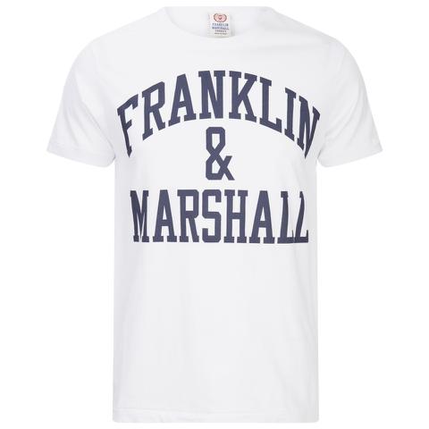 Franklin & Marshall Men's Large Logo T-Shirt - White