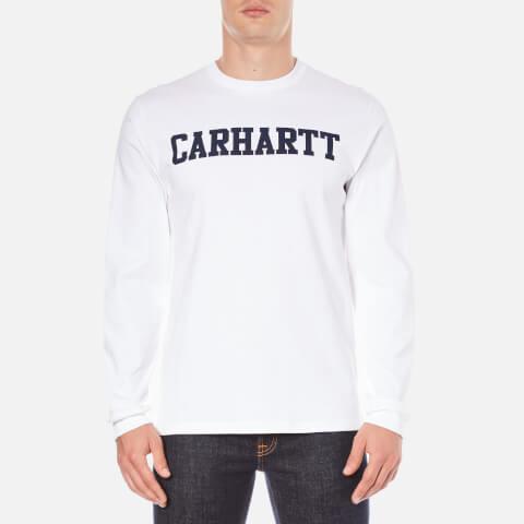 Carhartt Men's Long Sleeve College T-Shirt - White/Navy