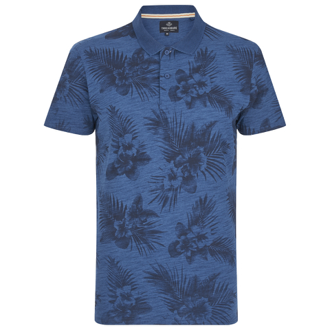 Threadbare Men's Hanoi Floral Print T-Shirt - Denim