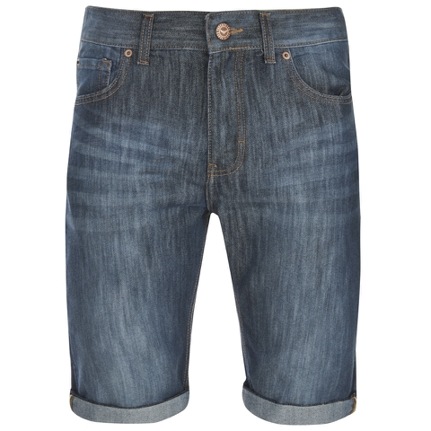 Threadbare Men's Denim Shorts - Dark Wash