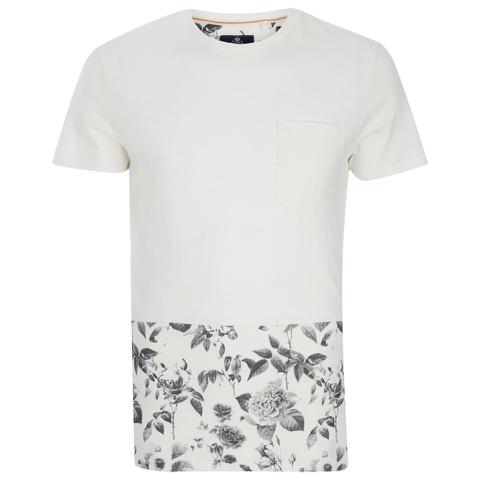 Threadbare Men's Pocket & Floral Hem T-Shirt - White