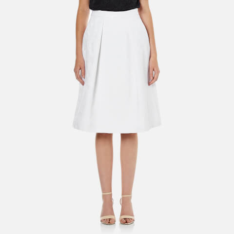MICHAEL MICHAEL KORS Women's Pocket Pleat Skirt - White