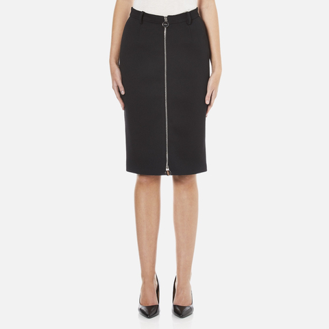 Carven Women's Full Zip Pencil Skirt - Black