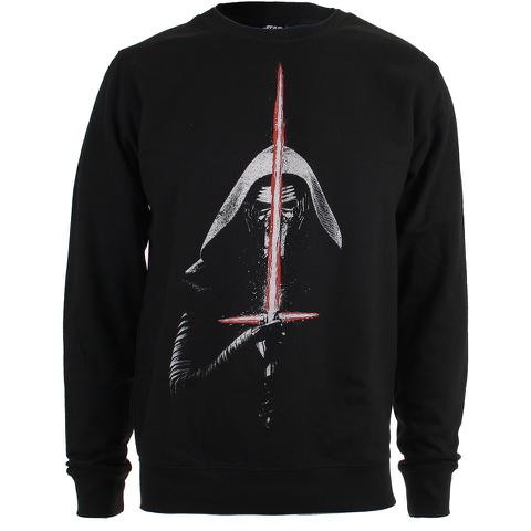 Star Wars Men's Kylo Ren Lightsabre Sweatshirt - Black