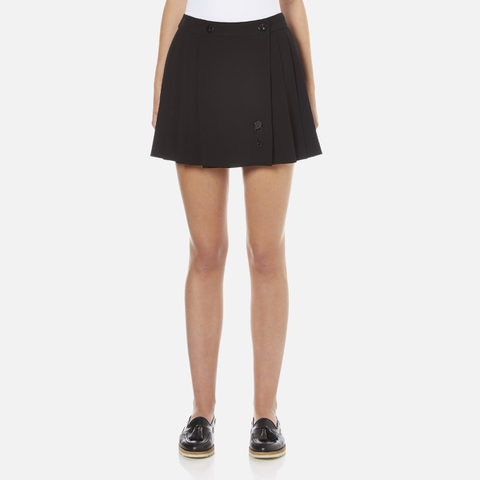 KENZO Women's Pleated Skirt - Black