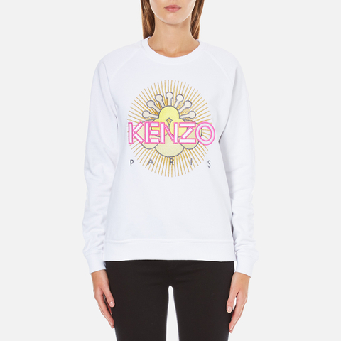 KENZO Women's Tanami Flower Logo Sweatshirt - White