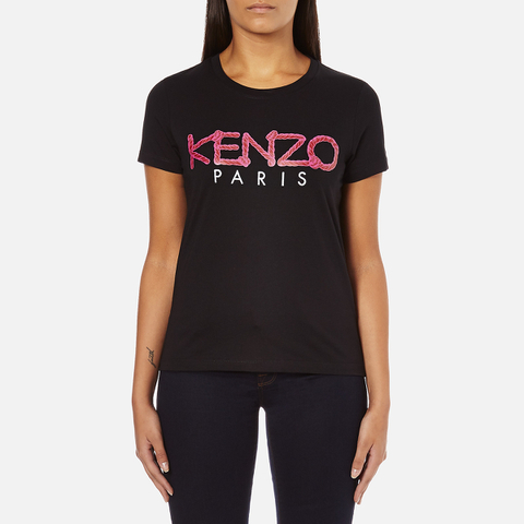 KENZO Women's Paris Rope Logo T-Shirt - Black