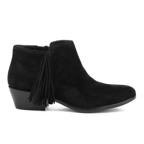 Sam Edelman Women's Paige Suede Tassle Ankle Boots - Black