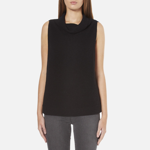 BOSS Orange Women's Willimply Sleevless Arm Drop Tunic Top - Black
