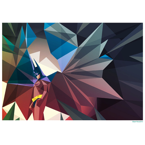 Batman Inspired Illustrative Art Print - 11.7 x 16.5 Inches
