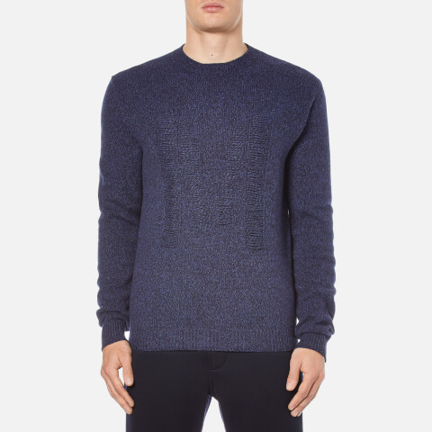 MSGM Men's Knitted M Jumper - Blue