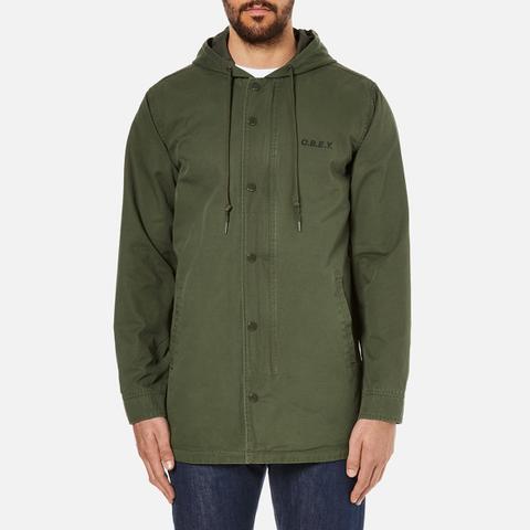 OBEY Clothing Men's Slugger Fishtail Parka Jacket - Dark Army