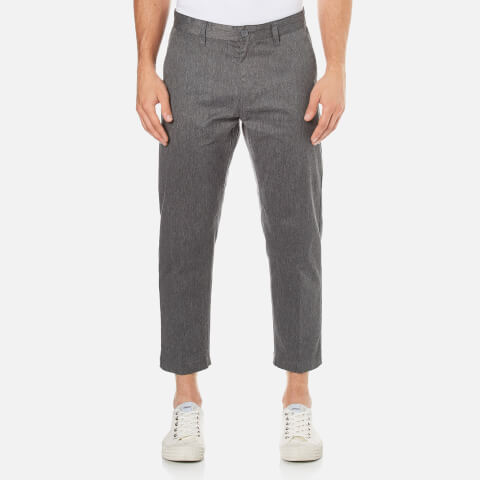 OBEY Clothing Men's Straggler Flooded Crop Trousers - Heather Grey