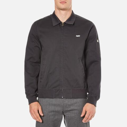 OBEY Clothing Men's Slacker Gas Station Jacket - Graphite