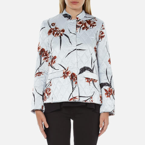 Ganni Women's Sanders Satin Jacket - Red Orchid
