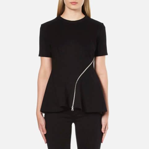 McQ Alexander McQueen Women's Ergonomic Zip Top - Black