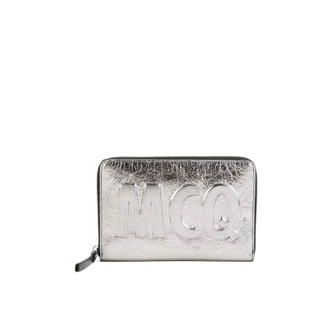 McQ Alexander McQueen Women's Travel Wallet - Light Gunmetal
